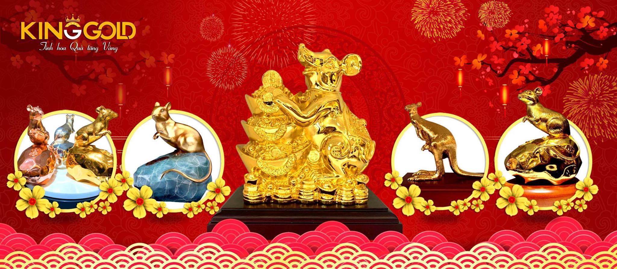 King Gold tung bộ chuột phú quý dát vàng dịp năm mới