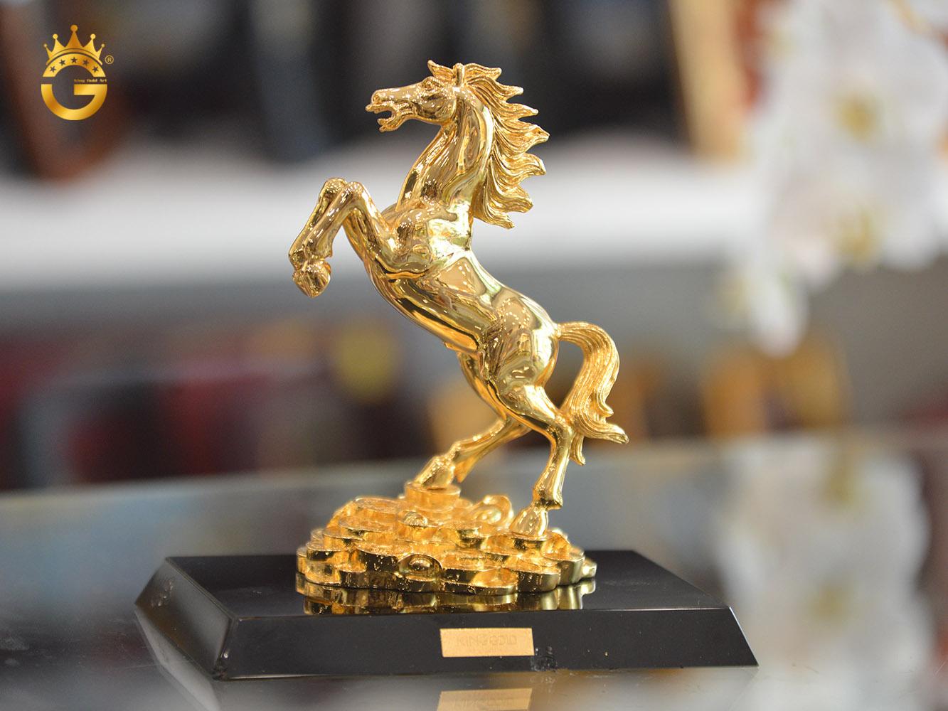 Tượng Linh Vật Phong Thủy Mạ Vàng Đẹp Tinh Xảo
